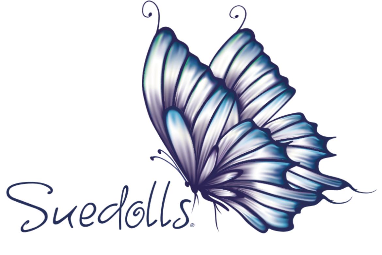 logo suedolls mariposa paint - sue